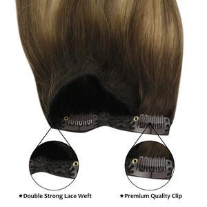 Moresoo 16-24 дюйма волосы для наращивания на клипсах Remy человеческие бразильские волосы на клипсах комплект с прямыми волосами 7 шт. 100 г