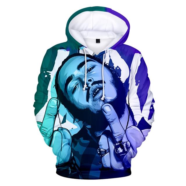 Post Malone Blue 3D Print Sweatshirt Hoodie 1