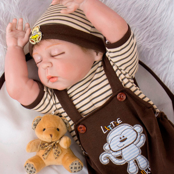 NPK 55cm boy reborn babies dolls New Full Body Silicone Reborn Baby Doll Toys bebe reborn boneca menino