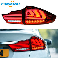 Car Styling Taillight Tail Lights For Honda City Grace 2015 2018 Rear Lamp DRL + Dynamic Turn Signal + Reverse + BrakeLED