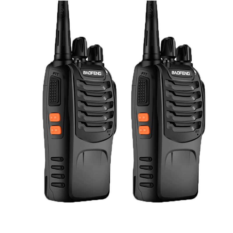 2pcs/lot BAOFENG BF-888s Walkie Talkies UHF400-470MHZ Portable Two Way Radio With LED Flashlight And Earpieces