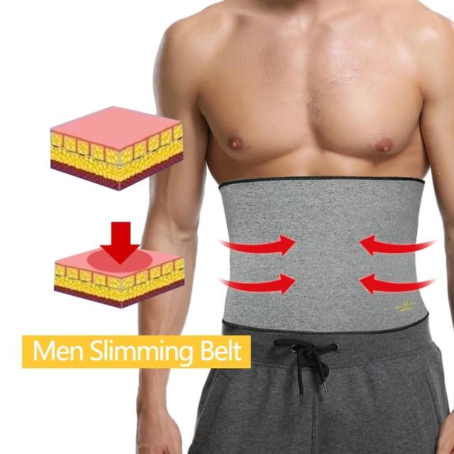 Men Waist Trimmer Belt Neoprene Waist Trainer Weight Loss Body Shaper Sauna Sweat Faja Fitness Slimming Belts Tummy Control Band 5