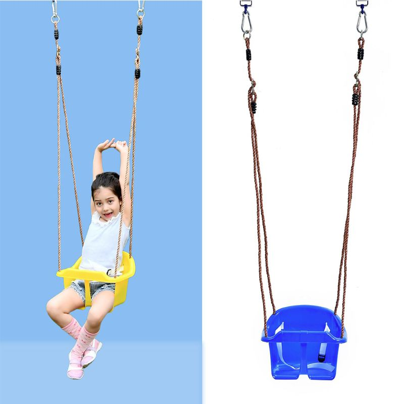 KidsPlastic Rope Swing Seat With Rope & Mounting Rings 77HD