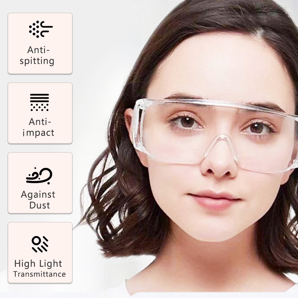 99.9% Anti-Dust Safety Goggles For Eyes Protection Windproof Dustproof Resistant Transparent Glasses Protective Safety Eyes