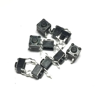 100pcs 6*6*4.3 Panel PCB Momentary Tactile Tact Push Button Micro Switch 4 Pin DIP Light Touch 6x6x4.3 mm Keys Keyboard image