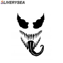 SLIVERYSEA 28CM*15CM Car Stickers Famous Horror Movie Venom Window PVC Vinyl Funny Sticker and Decals Styling
