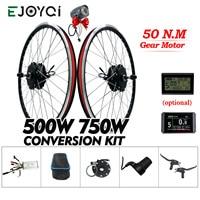 eBike Conversion Kit 36V 48V 500W 750W Rear Geared Hub Motor Wheel LCD3 Display e bike Electric Bike Bicycle Conversion Kit