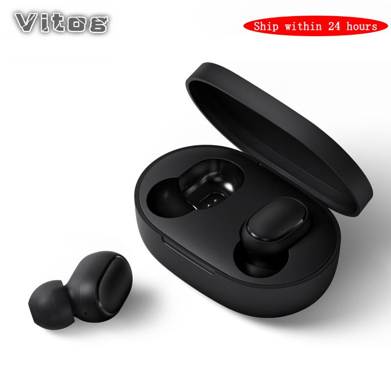 <font><b>Wireless</b></font> Headphone <font><b>A6S</b></font> <font><b>TWS</b></font> Bluetooth Earphone PK Redmi Airdots Sport Waterproof Mic Headsets Noise Cancelling Stereo Earbuds image
