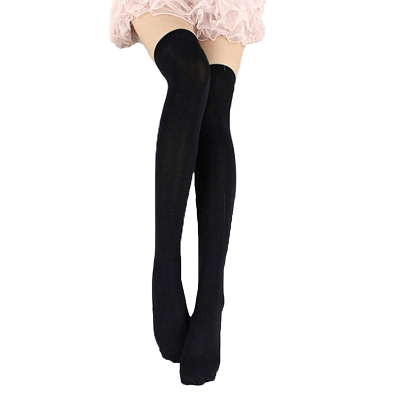 Candy Color Thigh High Stockings Sexy Cosplay Women Warm Stocking Nightclub Elastic Medias For Sexy Lingerie