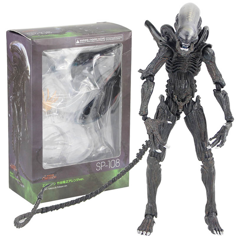 NECA <font><b>Alien</b></font> <font><b>1979</b></font> Xenomorph Version PVC Action Figure Collectible Model Toy Doll image