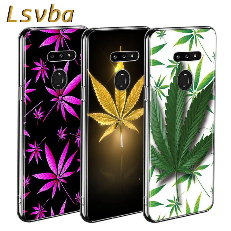 Weed Leaf Grass Huf Style For LG W20 W10 V50S V50 V40 V30 K50S K40S K30 K20 Q60 Q8 Q7 Q6 G8 G7 G6 Thinq Phone Case