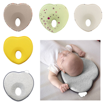 Protect baby pillow infant shape toddler sleep positioner anti roll cushion flat head pillow protection of newborn Baby Bedding