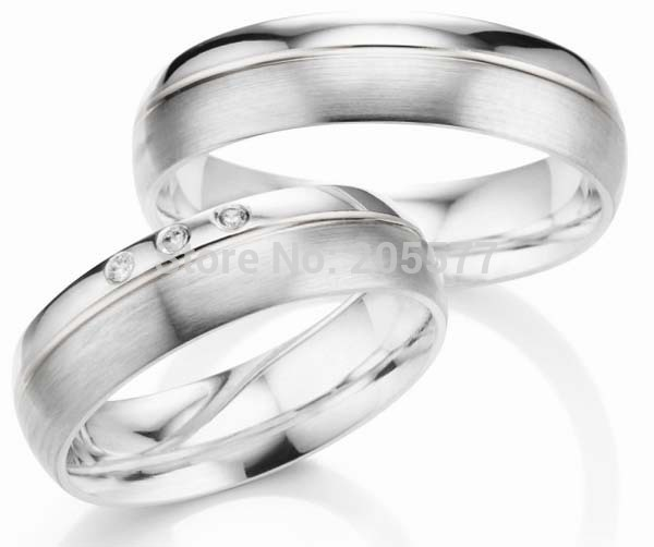 Ensembles de bagues de mariage de célébrité en titane pour hommes et femmes