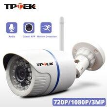 Câmera de vigilância residencial, hd 1080p ip externa wi fi residencial de vigilância 720p 3mp sem fio à prova dágua ip onvif câmera de camara