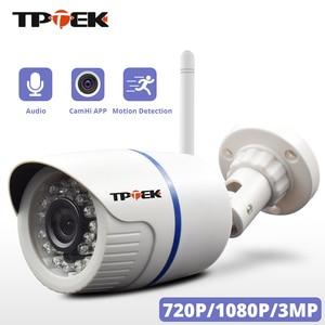 Image 1 - Câmera de vigilância residencial, hd 1080p ip externa wi fi residencial de vigilância 720p 3mp sem fio à prova dágua ip onvif câmera de camara