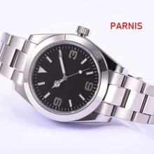 Parnis Sapphire Glass ปราศจากเชื้อ Dial 40mm อัตโนมัตินาฬิกาผู้ชาย