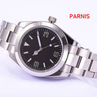 Parnis Sapphire Glass black Sterile Dial 40mm Automatic Men Watch
