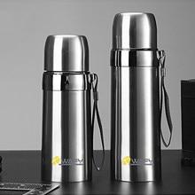 1 pçs 500ml bala dupla-camada de aço inoxidável vácuo garrafa térmica caneca de café garrafa térmica camuflagem vácuo