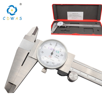 Dial Calipers 0-200 mm 0.01mm High Precision Industry Stainless Steel Vernier Caliper Shockproof Metric Measuring Tool