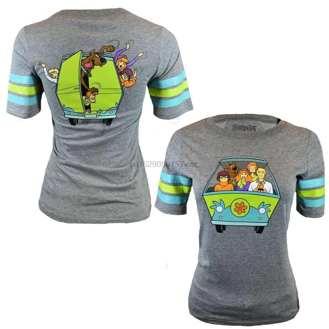Scooby Doo Womens T 셔츠 Shaggy Daphne Velma Fred US Tee 코튼 S M L XL NEW