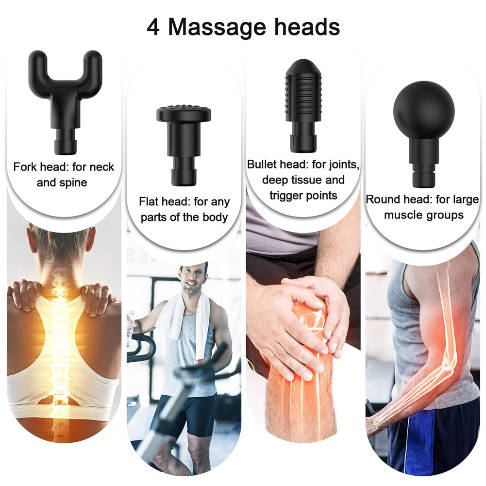 Adjustable Six Gears Muscle Massager Wireless Smart Fascia Gun For Home Gym Fitness Equipment Relaxing Muscles Electric New Hot
