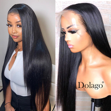 250 Density Straight Glueless Lace Front Human Hair Wigs 13x6 Fake Scalp Brazilian 360 Lace Frontal Wig Bob 370 Dolago Wig