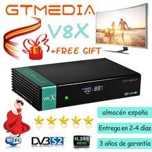 GTMedia-receptor de satélite V8x Full HD, WiF integrado, igual que gtmedia v8 nova v9 super, compatible con DVB-S2, H.265, gtmedia v8 honor, sin aplicación