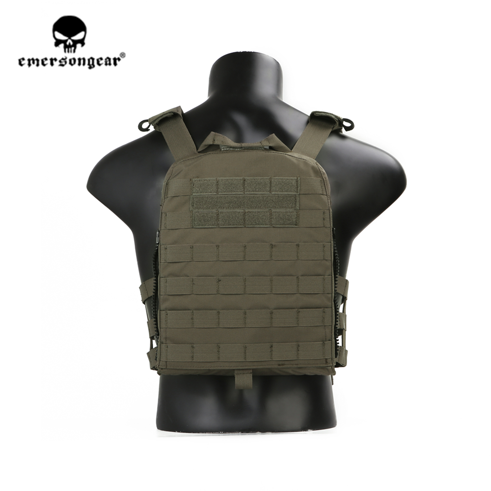 emersongear Emerson Ranger Green Plate Carrier CP style AVS Tactical Vest Lightweight Adjustable Body Armor CS Protective Gear - 2