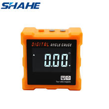 SHAHE Four Side Magnetic Protractor Angle Measurement Electronic Angle Meter Inclinometro Digital