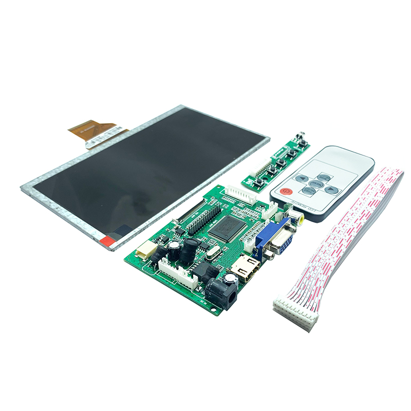 7 Inch LCD TFT Display HDMI VGA Monitor Sn + Remote Control for Raspberry Pi 3B 4+ image