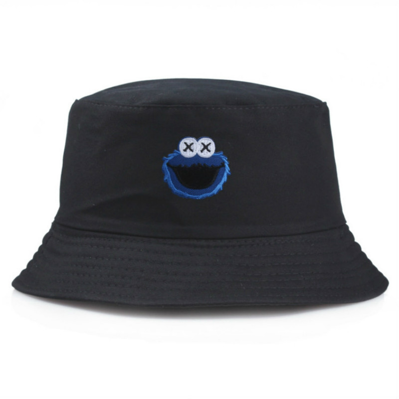 Sesame Street Cartoon Double Bucket Hat Women Casual Fashion Bob Basin Caps Men Fisherman Hats Panama Kapelusz Sombrero Mujer