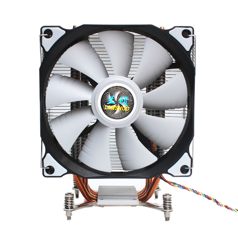 LANSHUO CPU Silent Single Fan 4 Heat Pipe 3 Wire CPU Cooler Fan For Intel LGA 2011 Self-Contained Backplane Motherboard