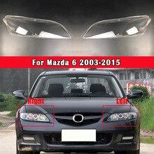 Araba ön far Lens kapağı cam lamba kabuk far cam şeffaf abajur Mazda 6 2003 2015 için