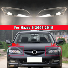 Car Front Headlamp Lens Cover Glass Lamp Shell Headlight Glass Transparent Lampshade For Mazda 6 2003 2015