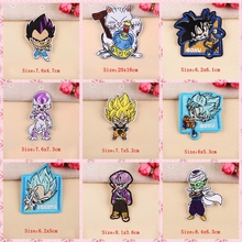 Anime Dragon Ball Goku Patches Cartoon Stitch Embroidered Patch Iron On  For Clothing Stickers Garment Applique Stripe F