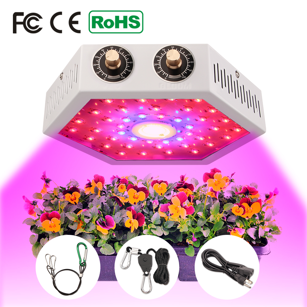 COB LED Grow Light 1000W  Full Spectrum Double Adjustable Switch Growing Lamps For Indoor Greenhouse Tent Plants Grow Led Light