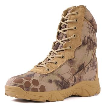 Botas Militares de combate de talla grande con diseño de camuflaje de Pitón, Botas de ejército, Botas de tobillo para Hombre, Botas tácticas de Sepatu, Botas Militares para Hombre