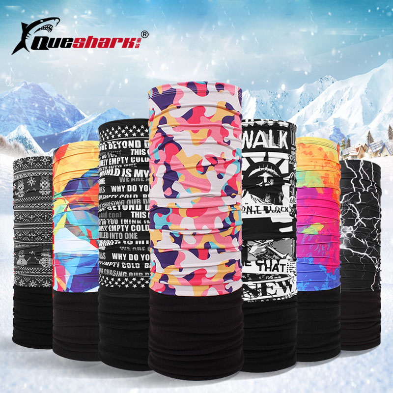 Men Women Colorful Winter Breathable Fleece Ski Mask Seamless Magic Scarf Cycling Snowboard Skiing Face Mask Neck Scarves