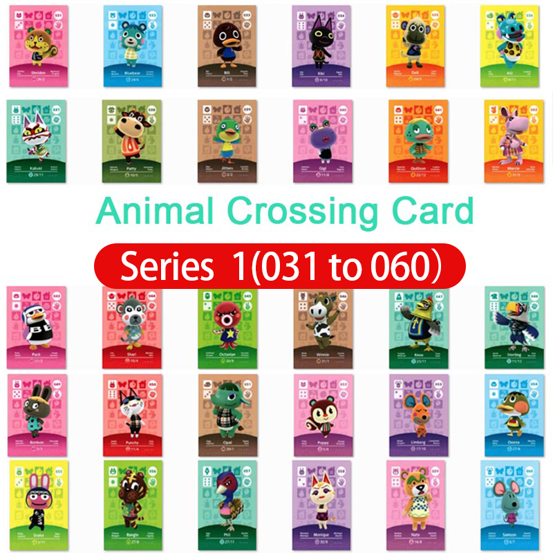 Animal Crossing Card Amiibo Card Work For Ns Games Series 1 Animals Crossing 31 To 60