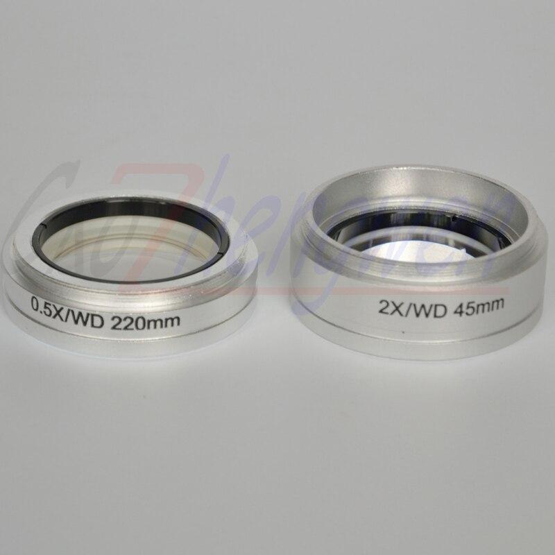 Objectif FYSCOPE ST 2.0X 0.5X pour MICROSCOPE à ZOOM stéréo, objectif 2 pièces/lot