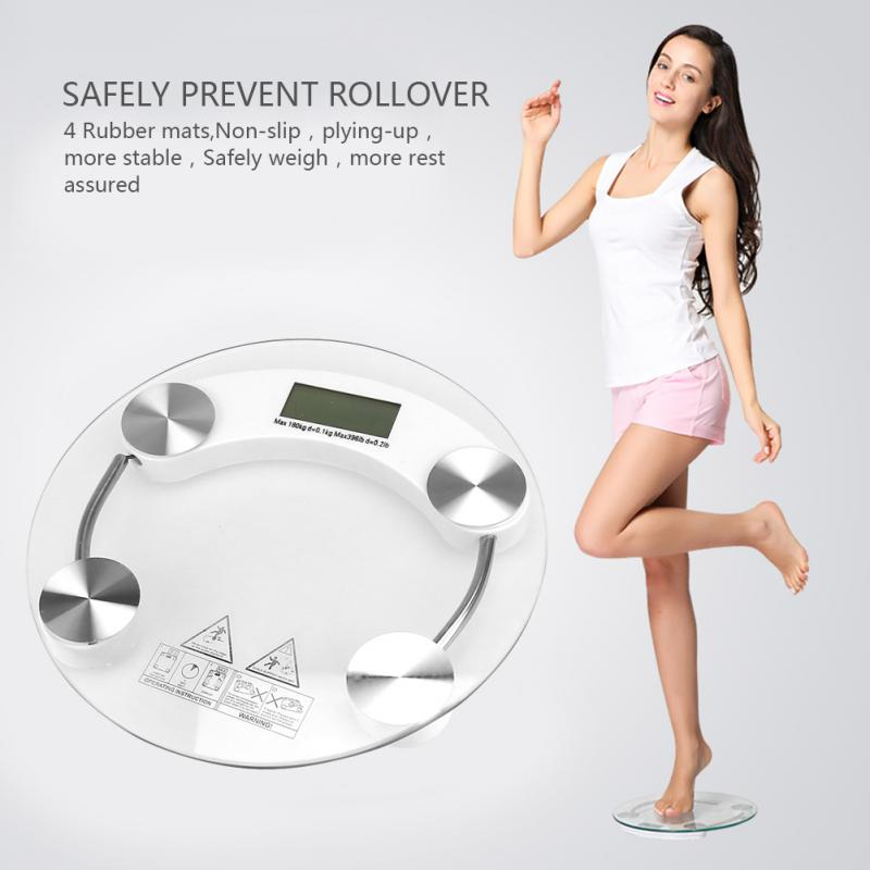 1pcs Digital Personal Weight Scale Tempered Glass Electronic Bathroom Body Weighing Scale lb/Kg Durable Top Quality