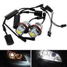 2 шт. 80 Вт белый ангельские глазки светодиодный габаритный светильник s супер яркий автомобильный передний светильник лампа головной светильник для BMW E39 E53 E83 E60 E61 E64