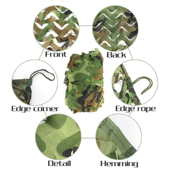 Hunting Camouflage Net Outdoor Blind Tree Stand Waterproof Rot-Resistance Mould-Resistance Suitable War Game Sports Camping 5