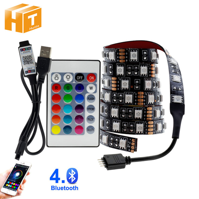USB LED רצועת 5050 RGB לשינוי LED טלוויזיה רקע תאורה 50CM 1M 2M 3M 4M 5M DIY גמיש LED אור.