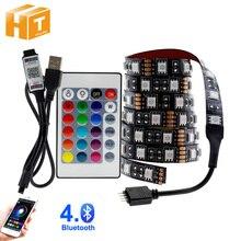 USB LED 스트립 5050 RGB 변경 LED TV 배경 조명 50CM 1M 2M 3M 4M 5M DIY 유연한 LED 빛.