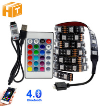 USB LED Streifen 5050 RGB Veränderbar LED TV Hintergrund Beleuchtung 50CM 1M 2M 3M 4M 5M DIY Flexible LED Licht.