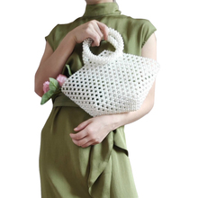 lady fashion hot pearl models brand design ins same paragraph net red luxury woven small grape bag shoulder handbag
