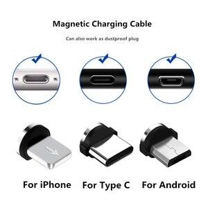 Магнитный кабель Micro USB 1 м для iPhone, Samsung, Android, быстрая зарядка USB Type C, Магнитный зарядный провод, шнур|Пылезащитные заглушки|   | АлиЭкспресс