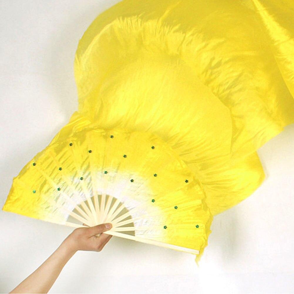 New High Quality Women Dancing Fan Chinese DAMA Square Dance Fans Costume Bamboo Long Fans Veil Fan