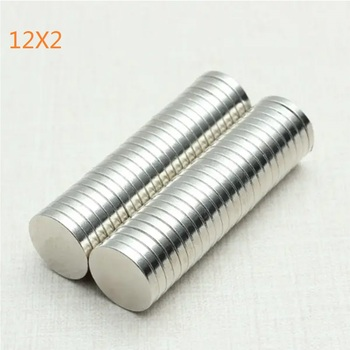 50pcs 12x2mm Super Powerful Strong Bulk Round NdFeB Neodymium Disc Magnets Dia 12mm x 2mm N52 Rare Earth Magnet 12*2